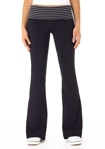 Contrast Foldover Yoga Pant