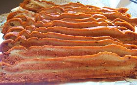 Spicy Hickory Maple Seitan Bacon..sounds like a lot of work...but good