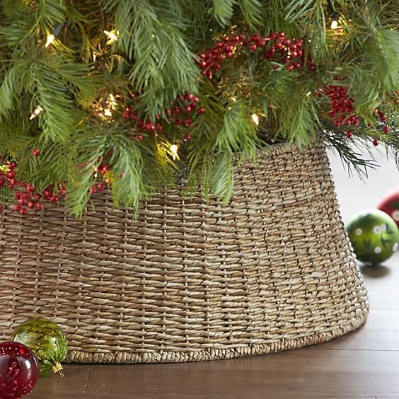 Modern Alternative To The Tree Skirt Neatly Conceals The