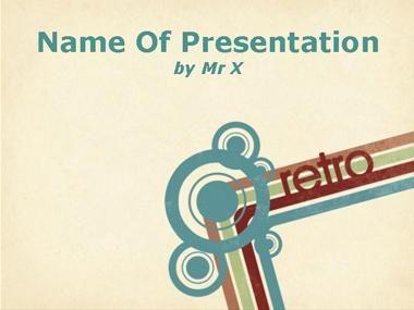 Retro Style Background Powerpoint Presentation Template