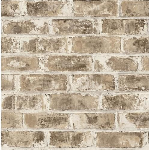 Brewster Urban Walls 56 4 Sq Ft Neutral Non Woven Brick Unpasted Paste The Wall Wallpaper Lowes Com Brick Wallpaper Brick Wallpaper Grey Brick Exterior House