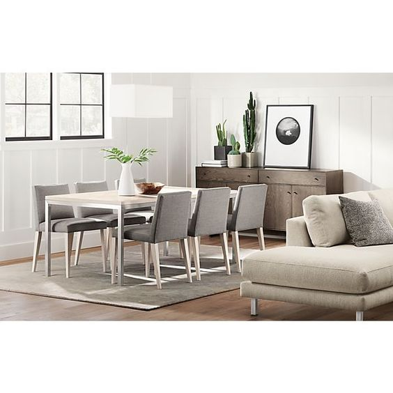 Portica Table with Ava Chairs - Modern Dining Room Furniture - Room & Board
