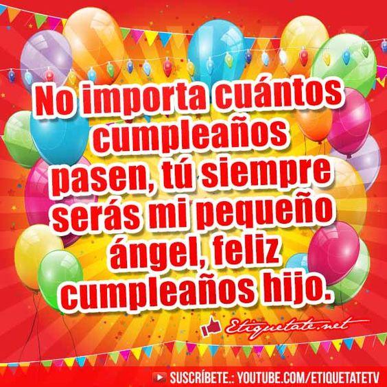 Imágenes de Feliz Cumpleaños para un Hijo http  etiquetate net imagenes de feliz cumpleanos