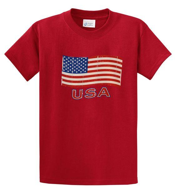 Big Men's USA Flag Graphic T-Shirt