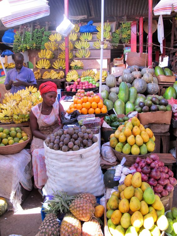 Roadside vegetable market,Nakasero Kampala, Uganda -