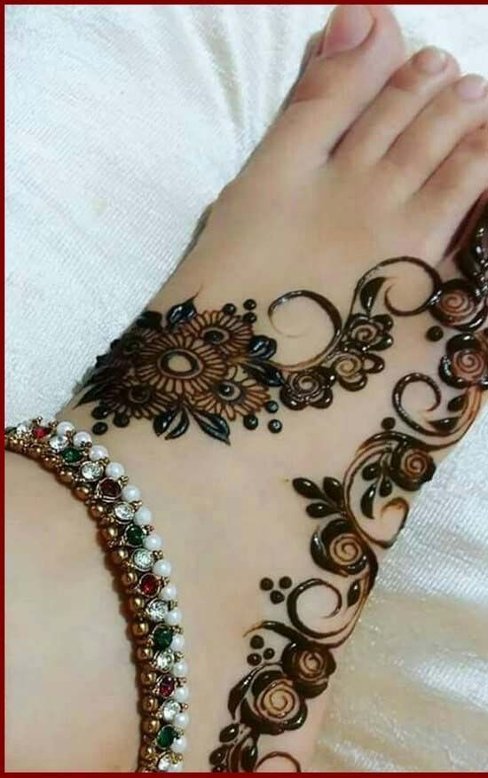 Foot New Style Mehendi Design With Images Beautiful Henna