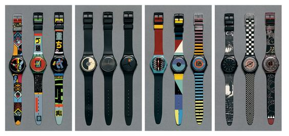 Jean Robert, Swatch designs, a selection from more than 350 different models, 1983-1989