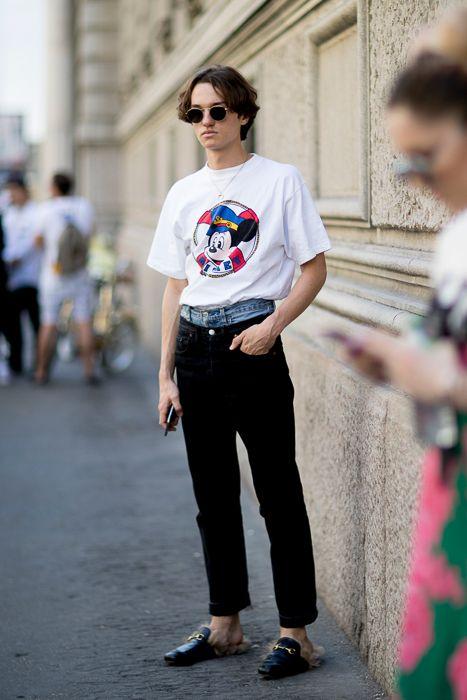 Milan Men's Fashion Week SS18海外メンズアンクルパンツコーデ
