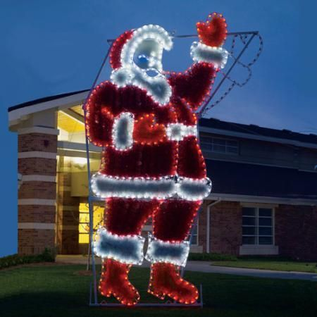 Giant Waving Santa Animated LED Light Display 17 ft H-Stand out in your neighborhood with this professionally designed and built santa by hand in the U.S.A. http://www.christmasnightinc.com/c263/Giant-Waving-Santa-Animated-LED-Light-Display-17-ft-H-p1137.html#