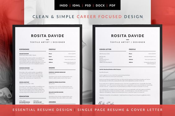 Essential Resume - CV \ Cover Letter Templates Career - cv and cover letter