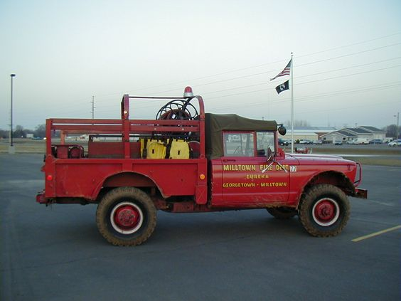 This Kaiser Jeep fire truck is from the Milltown, WI fire department