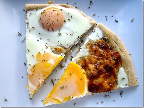Pesto, Provolone & Egg Pizza #egglandsbest