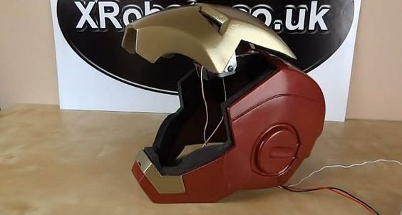 DIY Iron Man helmet with motorized faceplate