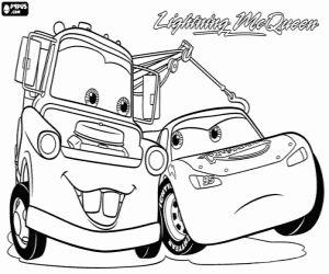 Colorear Rayo McQueen y Mate en la película Cars 2 ...