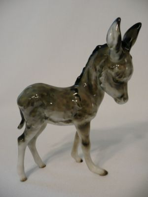hutschenreuther standing donkey figurine porcelain figurines pinterest d donkeys and figurine. Black Bedroom Furniture Sets. Home Design Ideas