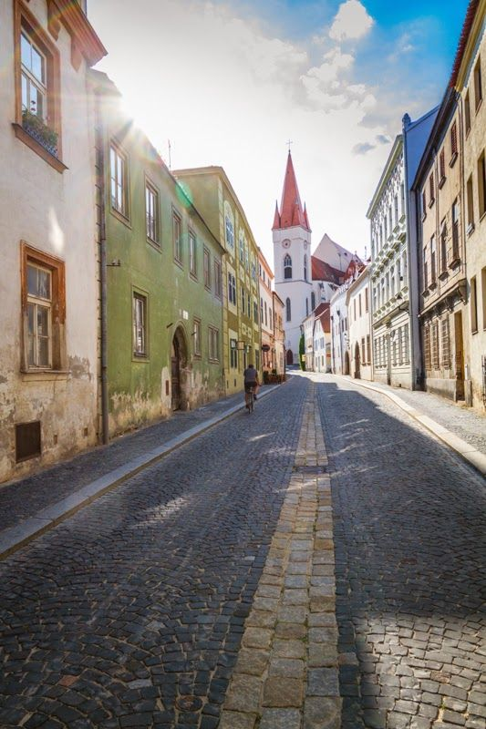 The streets of the city of Znojmo, Moravia, Czech Republic