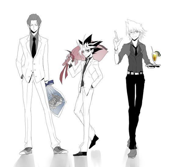 Seto Kaiba, Yami Yugi, and Joey Wheeler