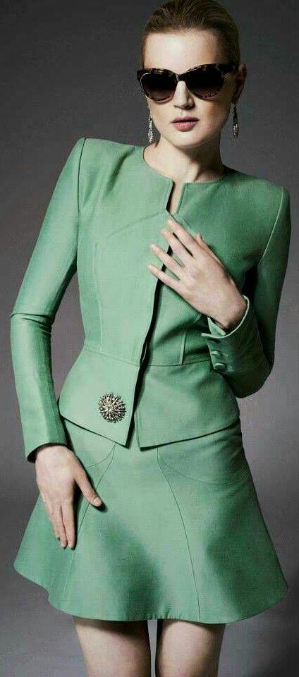 Zac Posen * Resort 2015 - green couture