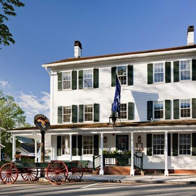 "Griswold Inn Date Opened: 1776 Location: Essex, CT The brass-bell and maritime-painting-bedecked Griswold Inn resides in a quaint colonial harbor town located about 40 miles from Hartford. The ""Gris,"" as it's known by locals, has served George Washington, Mark Twain, Albert Einstein, and Katharine Hepburn, in addition to countless whalers, fishermen, steamboat captains, and townspeople.:"