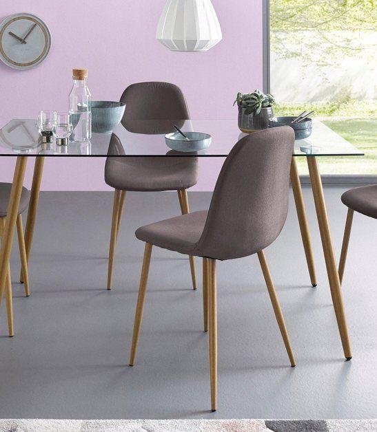 Schalenstuhl Glastische Esstisch Mit Glasplatte Tisch