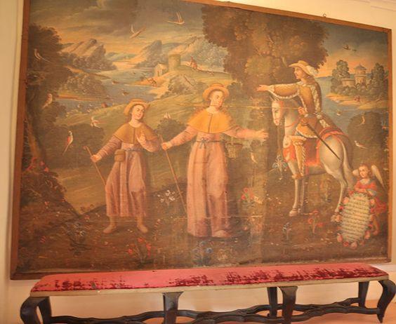 Attribution atelier de Juan Espinosa de los Monteros.Ecole de Cuzco c1700 Musée d' Art Religieux Juan de Tejada (Argentine). Thérèse à sept ans tente une évasion avec son frère au pays des Maures. Le paysage environnant la scène ne représente pas la terre d'Avila, mais des images inspirées par l'Afrique du nord http://www.museotejeda.com/galeriaimagenes/obtenerimagen/?id=11&tipoEscala=stretch&width=1045&height=694