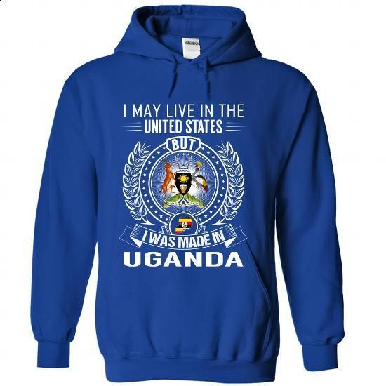 I May Live In the United States But I Was Made In Ugand - #workout shirt #white sweatshirt. ORDER NOW => https://www.sunfrog.com/States/I-May-Live-In-the-United-States-But-I-Was-Made-In-Uganda-jiugxgfiwy-RoyalBlue-Hoodie.html?68278