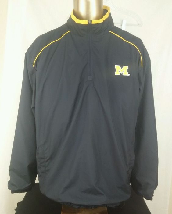 College Michigan State Pullover Jacket L with half zipper EUC football #Colosseum #MichiganWolverines
