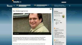 Ben #Wettervogel: Selbstmord - #TV #Star aus dem #ZDF #Morgenmagazin begeht #Freitod - #Stars und #Sternchen - #VIP #News - #Promi #Flash
