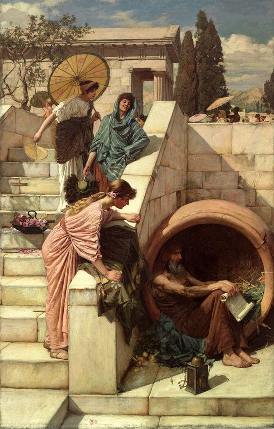 (Diogenes). 1882 John William Waterhouse: