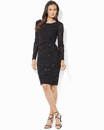 Lauren Ralph Lauren Long Sleeve Sequin Lace Dress  ORIG $174.00  SALE $121.80