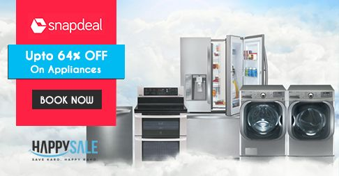 Stock up on electronic appliances you always wanted with 64% discount from Snapdeal. #ElectronicsSale #SnapdealDiscounts