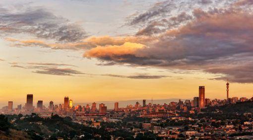 Johannesburg Skyline At Sunrise Interior Decor Canvas Johannesburg City Sunrise City City Skyline