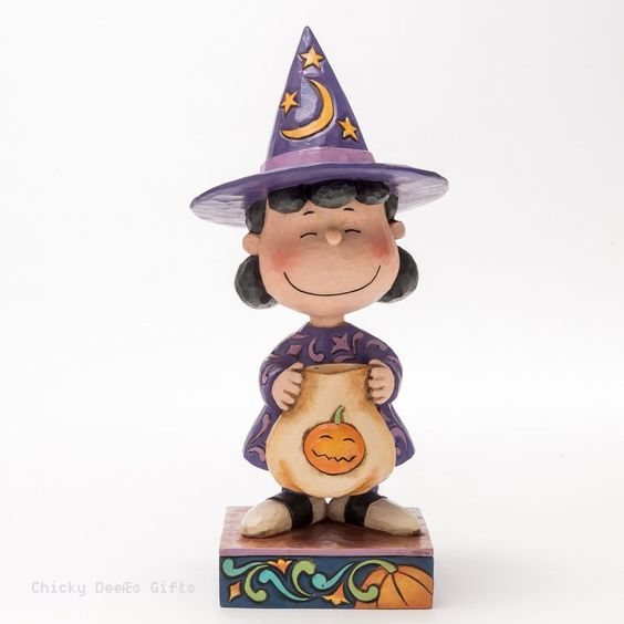 Jim Shore Peanuts Collection Lucy in Witch Costume 4045888 Halloween