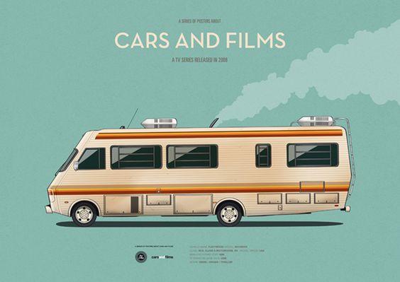 Dá pra abrir um negócio com um desses. Poster of Breaking Bad Rv. Illustration Jesús Prudencio