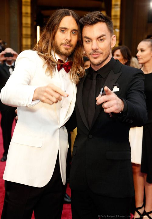 Jared Leto & Shannon Leto on the red carpet for Oscars 2014 DAMN Shannon- just stop, you're too much.
