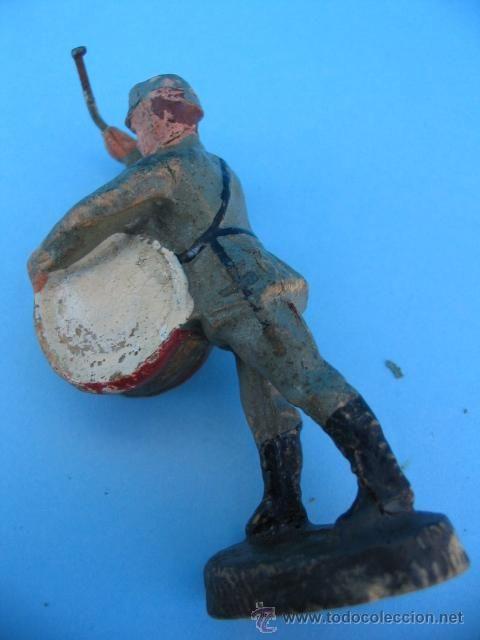 Juguetes Antiguos: Massesoldaten de Elastolin. Alemania. Antiguo soldadito músico de los cazadores de montaña.. - Foto 3 - 54844636