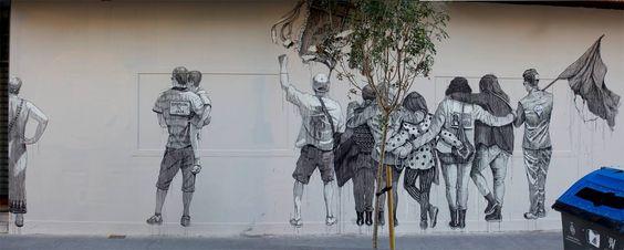 by Daniel Muñoz (SAN) – New mural in Valencia, Spain - Oct 2014
