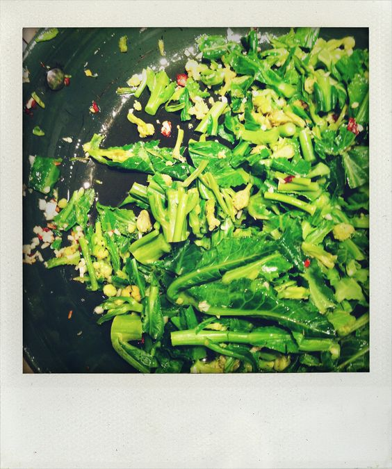 Day 6 dinner: Broccoli rabe with garlic and chili (look out for the ...