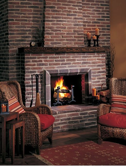 Country Style Mantels And Fireplaces Red Brick Fireplaces Brick
