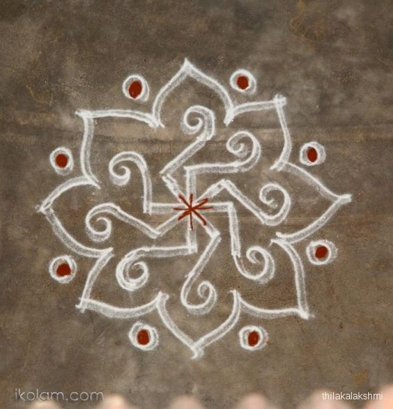 Freehand kolam indian floor art rangoli pinterest for Floor rangoli design