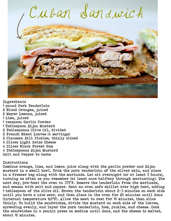 Pinecone: cuban sandwich recipe