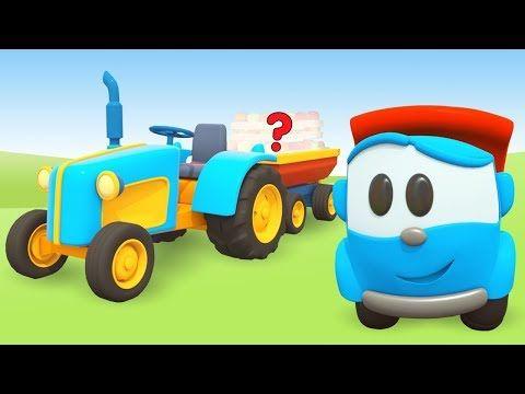 Kinder Cartoon Auf Deutsch Leo Der Lastwagen Baut Einen Traktor Youtube Kinder Cartoon Kinder Lastwagen