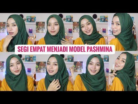 Tutorial Hijab Segi Empat Menjadi Model Pashmina Trend Tahun 2020 Youtube Hijab Tutorial Hijab Pashmina