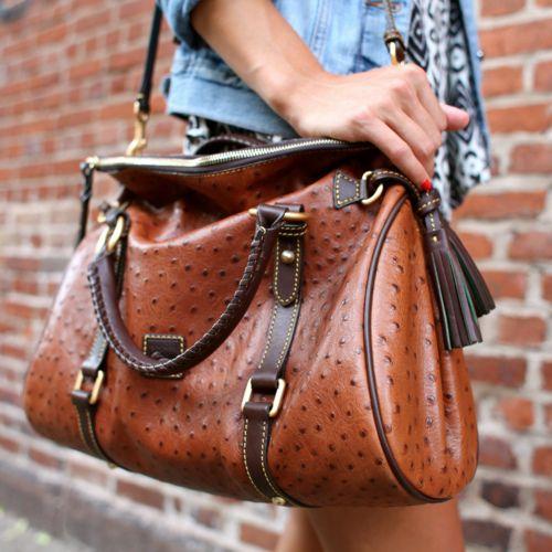 Dooney and bourke Ostrich leather handbag