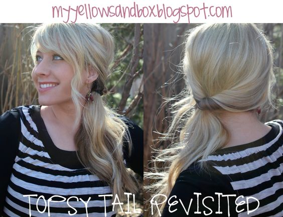 Topsy Tail.  My Yellow Sandbox- great hairstyle how-to's: Beauty Hair, Hairdos, Hairstyles Nails, Hair Styles, Style Hair, Elementary School, Darling Hairstyles, Hair Stuff