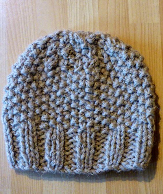 Tricoter le bonnet de sophie tuto gratuit free directions easy facile une semaine - Modele de bonnet a tricoter facile ...