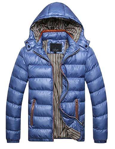 CBTLVSN Mens Outdoor Warm Winter Jacket Faux Fur Hooded Coat Jacket Windbreaker