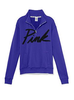 Boyfriend Half Zip Pullover - PINK - Victoria's Secret from VS PINK
