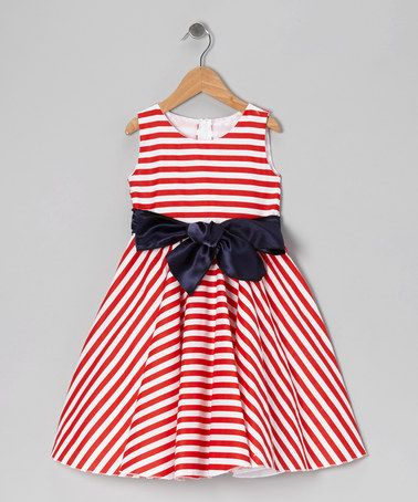 Kid Fashion Red Stripe Bow Dress - Infant Toddler &amp Girls  Red ...