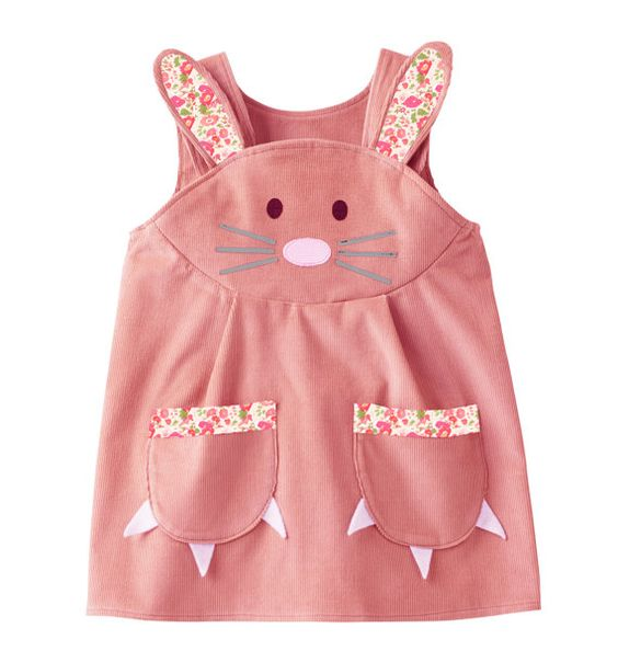 Lapin robe avec sa garniture impression par wildthingsdresses